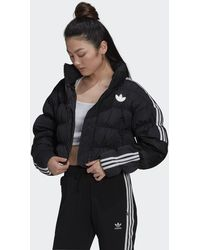 adidas Short Synthetic Down Puffer Jacket - Black