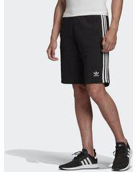 adidas 3-Stripes Fleece Pantaloncini - Nero