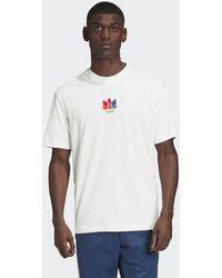 adidas 3d Trefoil Graphic T-shirt - Wit