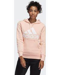 adidas Sudadera Badge of Sport Pullover Fleece - Rosa