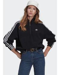 adidas Adicolor Classics Polar Fleece Half-zip Sweatshirt - Black