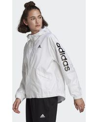 adidas Coupe-vent Essentials Oversize Logo - Blanc