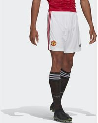 adidas Manchester United 20/21 Thuisshort - Wit