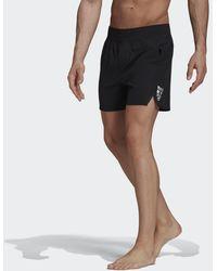 adidas Zip Pocket Zwemshort - Zwart