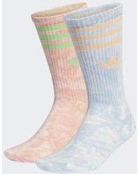 adidas Tie-Dyed Socken, 2 Paar - Blau