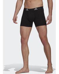 adidas Logo Boxershorts, 3 Paar - Schwarz