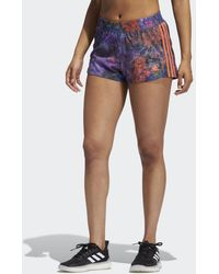 adidas - Short Pacer Woven Floral - Lyst