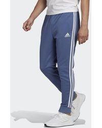 adidas Essentials French Terry Tapered Cuff 3-stripes Broek - Blauw