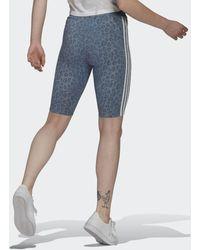 adidas Korte Legging - Blauw