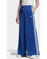adidas Satin Track Pants - Blue