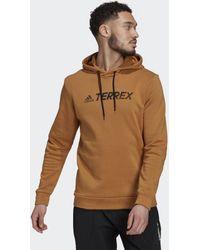 adidas - Felpa con cappuccio Terrex Graphic Logo - Lyst