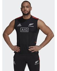 adidas All Blacks Primeblue Rugby Performance Singlet - Zwart