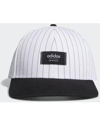 adidas Pinstripe Hat - Wit