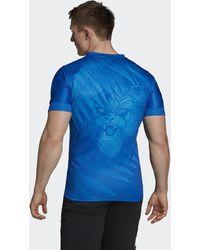 adidas All Blacks Rugby World Cup Y-3 Training Shirt - Blauw