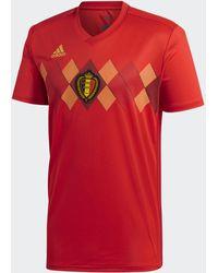 adidas Belgien Heimtrikot - Rot