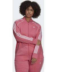 adidas Primeblue Sst Track Top (plus Size) - Pink