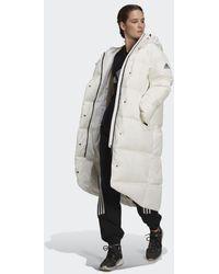adidas Big Baffle Down Coat - White