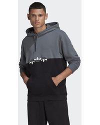 adidas Adicolor Sliced Trefoil Hoodie - Black