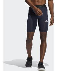 adidas Techfit Short Tights - Blue
