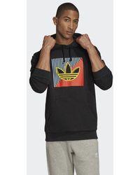 adidas Diagonal Embroidered Hoodie - Schwarz
