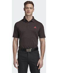adidas Ultimate365 Space Dye Stripe Poloshirt - Schwarz