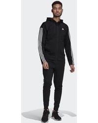 adidas Survêtement Sportswear Ribbed Insert - Noir