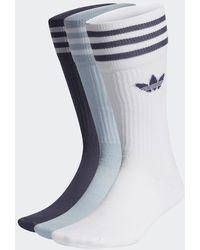 adidas Sokken 3 Paar - Blauw
