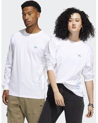 adidas Speed Graphic Long Sleeve Tee (gender Neutral) - White