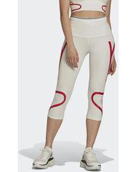 adidas Mallas 3/4 by Stella McCartney TruePace HEAT.RDY Running - Blanco