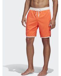 adidas 3-stripes Clx Swim Shorts - Red