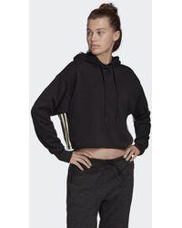adidas Must Haves Cropped Hoodie - Zwart