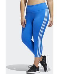 adidas Mallas 7/8 Believe This 3 bandas (Tallas grandes) - Azul