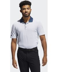 adidas - Two-color Club Stripe Polo Shirt - Lyst