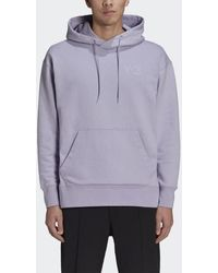 adidas Y-3 Classic Chest Logo Hoodie - Paars