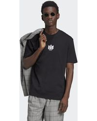 adidas Loungewear Adicolor 3d Trefoil Tee - Black