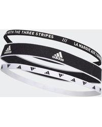 adidas Training Headbands 3 Per Pack - Black