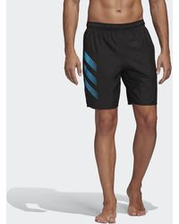 adidas Bold 3-stripes Clx Zwemshort - Zwart
