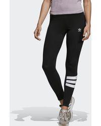 26b432557d826 adidas Originals Tape Leggings in Black - Lyst