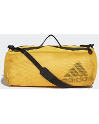 adidas Sports Mesh Duffeltas - Geel