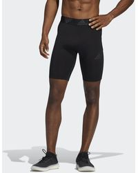 adidas Techfit 3-stripes Short Tights - Black