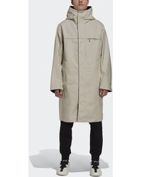 adidas Y-3 Classic Bonded Racer Hooded Trench Coat - Natural