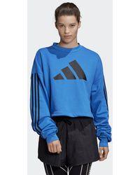 adidas Adjustable 3-stripes Sweatshirt - Blauw