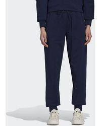 adidas Y-3 Classic Terry Cuffed Pants - Blu