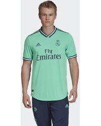 adidas Real Madrid Authentiek Derde Shirt - Groen