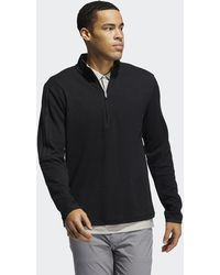 adidas 3-stripes Quarter-zip Pullover - Black