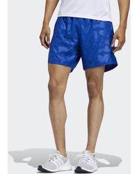 adidas Run It Urban Camo Shorts - Blau