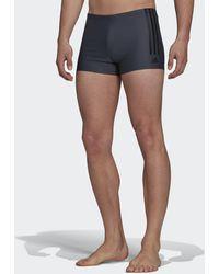 adidas Semi 3-stripes Swim Briefs - Grey