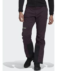 adidas Pantalón Terrex Ski-Touring Soft Shell - Morado