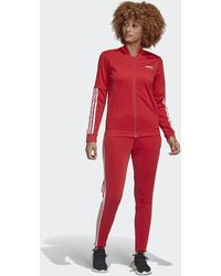 adidas Back 2 Basics 3-stripes Trainingspak - Rood