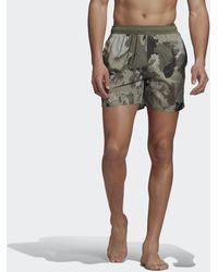 adidas Short Length Camouflage Zwemshort - Groen